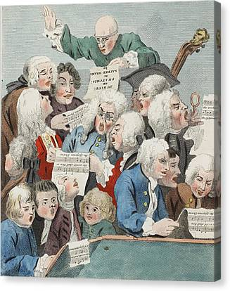 The Chorus Or Rehearsal Of The Oratorio Canvas Print by William Hogarth