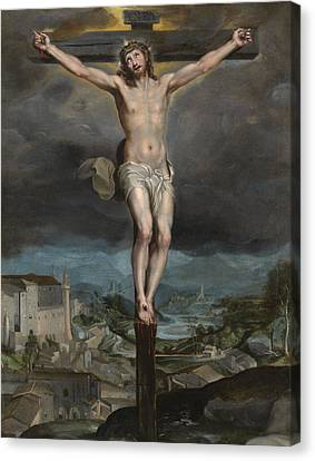 The Christ Expiring On The Cross Canvas Print by Federico Barocci