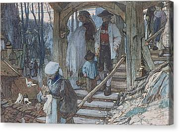 The Christening Gate In Lausanne, C.1861 Canvas Print by Matthijs Maris