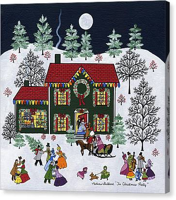 The Christmas Party Canvas Print by Medana Gabbard