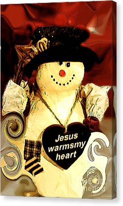 The Christmas Snowman Canvas Print