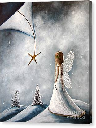 Messenger Canvas Print - The Christmas Star Original Artwork by Shawna Erback