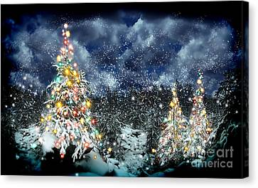 The Christmas Tree Canvas Print by Boon Mee