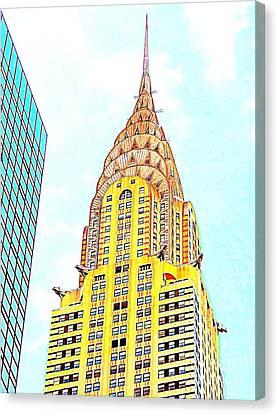 The Chrysler Building Canvas Print by Ed Weidman