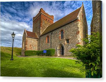 Canvas Print featuring the photograph The Church At Dover Castle by Tim Stanley