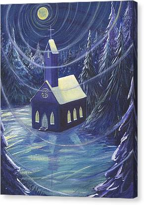 The Church Canvas Print by Beckie J Neff