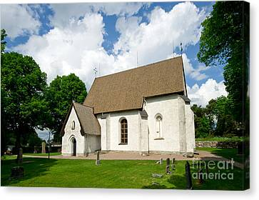 The Church In Vasteraker Canvas Print by Torbjorn Swenelius