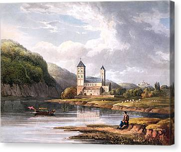 The Church Of Johannes At The Influx Canvas Print by Christian Georg II Schutz or Schuz