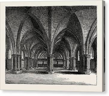 The Church Of St. Faith The Crypt Of Old St Canvas Print by English School