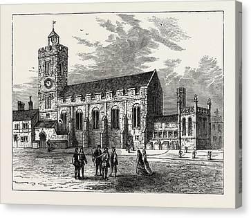 The Church Of St. Michael Ad Bladum A.d Canvas Print by English School