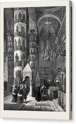 The Church Of The Assumption Moscow Russia 1874 Canvas Print