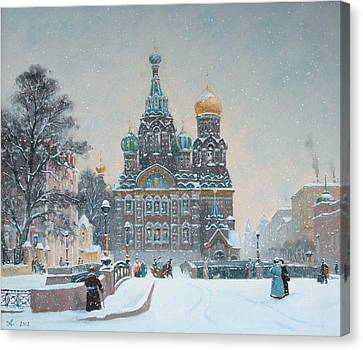 The Church Of The Spilled Blood. Canvas Print by Alexander Alexandrovsky
