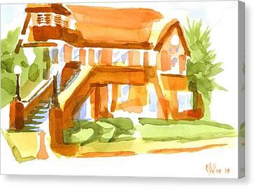 The Church On Shepherd Street Vi Canvas Print by Kip DeVore