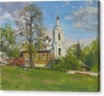 Lanscape Canvas Print - The Church Spasa Za Verhom by Victoria Kharchenko
