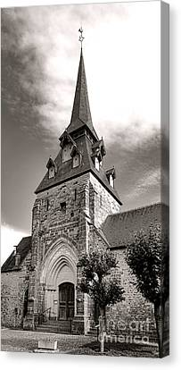 Pointy Canvas Print - The Church With The Dormers On The Steeple by Olivier Le Queinec