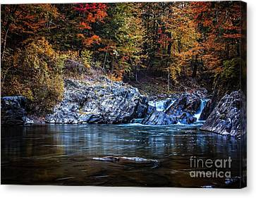The Chutes Thetford Vermont Canvas Print by Edward Fielding