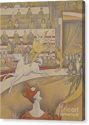 The Circus Canvas Print by Georges Pierre Seurat