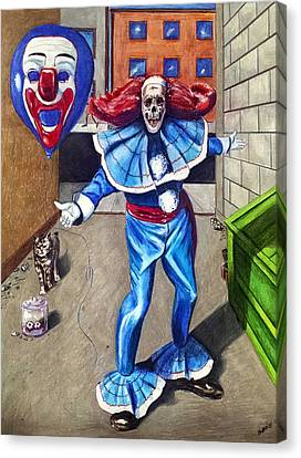 The Circus Is Coming To Town Canvas Print by Chris Benice