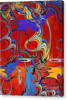 Swirling Desires Canvas Print - The Circus Of Ecstasy by RC deWinter