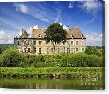 The Cistercian Abbey De Bon Repos Cotes D'armor Brittany France  Canvas Print by Jon Boyes