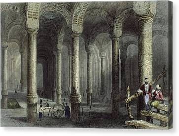 Cellar Canvas Print - The Cistern Of Bin-veber-direg, Or The by William Henry Bartlett