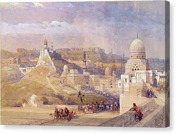 The Citadel Of Cairo, Residence Of Mehmet Ali, 1842-49  Canvas Print by David Roberts