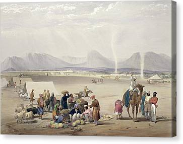 Mountain Canvas Print - The City Of Candahar, From Sketches by James Atkinson