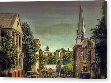 The City Of Lexington Virginia Canvas Print by Kathy Jennings
