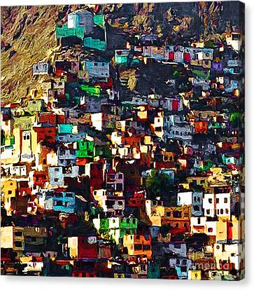 The City On The Hill V1 Square Canvas Print by Wingsdomain Art and Photography