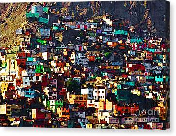 The City On The Hill V1 Canvas Print by Wingsdomain Art and Photography