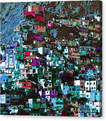 The City On The Hill V1p168 Square Canvas Print by Wingsdomain Art and Photography