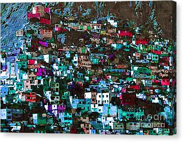 The City On The Hill V1p168 Canvas Print by Wingsdomain Art and Photography