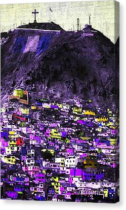 The City On The Hill V2p128 Canvas Print by Wingsdomain Art and Photography