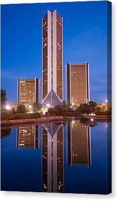 The Cityplex Towers - Tulsa Oklahoma Canvas Print by Gregory Ballos