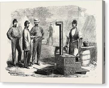 The Civil War In America Our Kitchen In The Camp Of The 2nd Canvas Print by American School