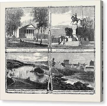 The Civil War In America Sketches From Richmond Virginia Canvas Print