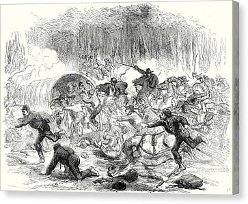 The Civil War In America The Stampede From Bull Run 17 Canvas Print by American School