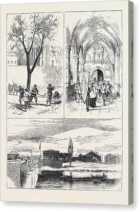 The Civil War In Spain 1. Republican Guardia Foral Cutting Canvas Print by Spanish School