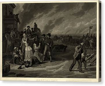 The Civil War, Martial Law. The Canvas Print by Everett