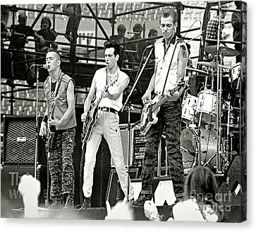 The Clash 1982 Canvas Print by Chuck Spang