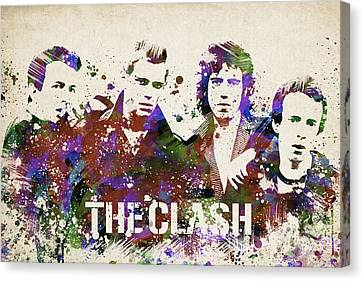 The Clash Portrait Canvas Print by Aged Pixel