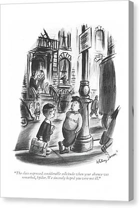 Schoolroom Canvas Print - The Class Expressed Considerable Solicitude When by Whitney Darrow, Jr.