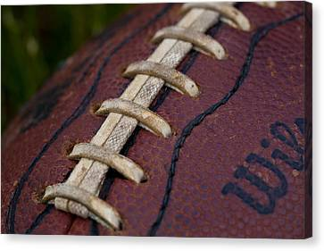 The Classic Leather Football Canvas Print by David Patterson