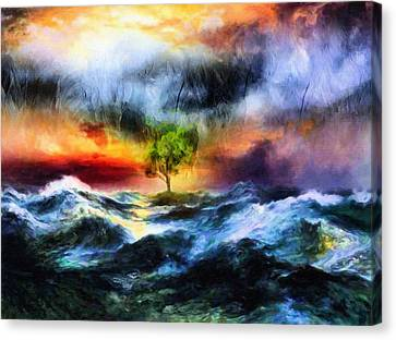 The Clearing Of The Flood Canvas Print by Georgiana Romanovna