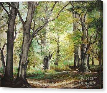 Canvas Print featuring the painting The Clearing by Sorin Apostolescu