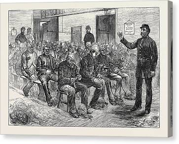 The Clerkenwell House Of Correction The Oakum Shed 1874 Canvas Print