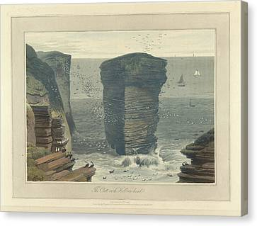 The Clett-rock Canvas Print by British Library