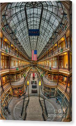 The Cleveland Arcade Vii Canvas Print by Clarence Holmes