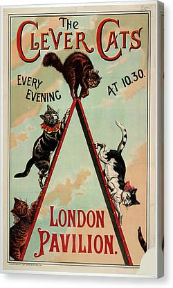 The Clever Cats Canvas Print by British Library