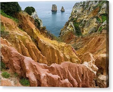 The Cliffs And Sea Stacks Of Ponta Da Canvas Print